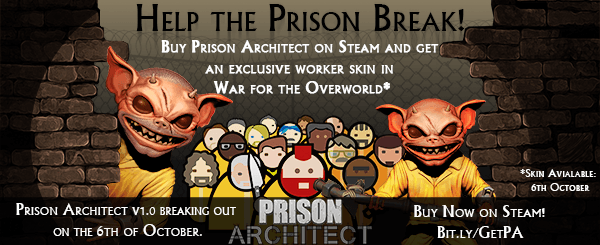 Prison Architect Steam News Banner - 600x245